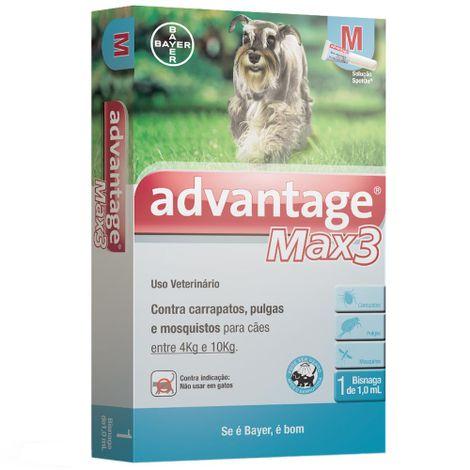 Anti Pulgas e Carrapatos Bayer Advantage MAX3 com 1 mL - dibicho 0da95198a899b